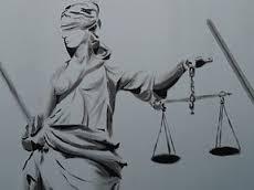 Justitia, über Gerechtigkeit wachen sei ihre Aufgabe. - Wegschauen? Nein danke.
