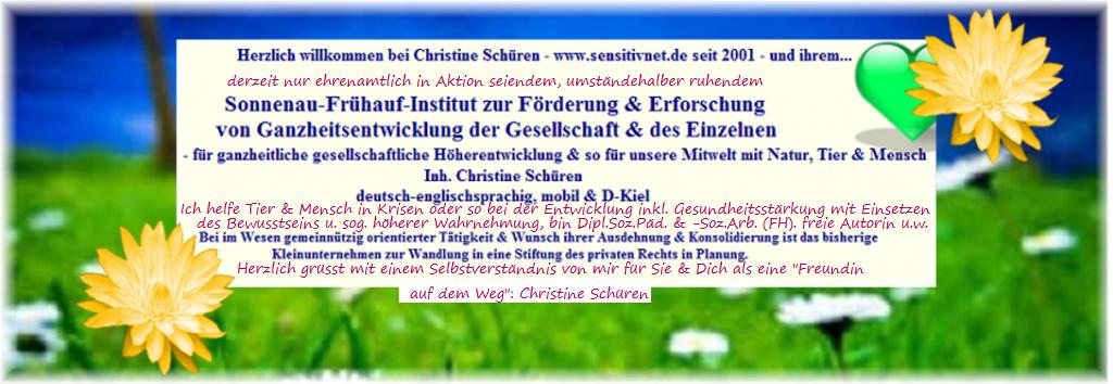 sensitivnet.de – Christine Schüren – Ganzheitl. Förderung v. Tier u. Mensch